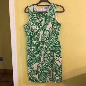 Antonio melanin green dress floral peplum 10 M
